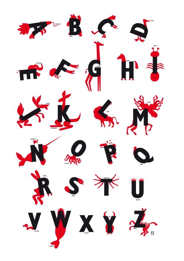Alphabet Animals (for my kids nursery)