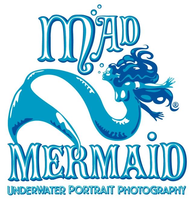 Mad Mermaid logo v1 plus web bits
