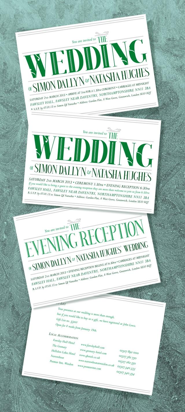 Wedding invites 2013A