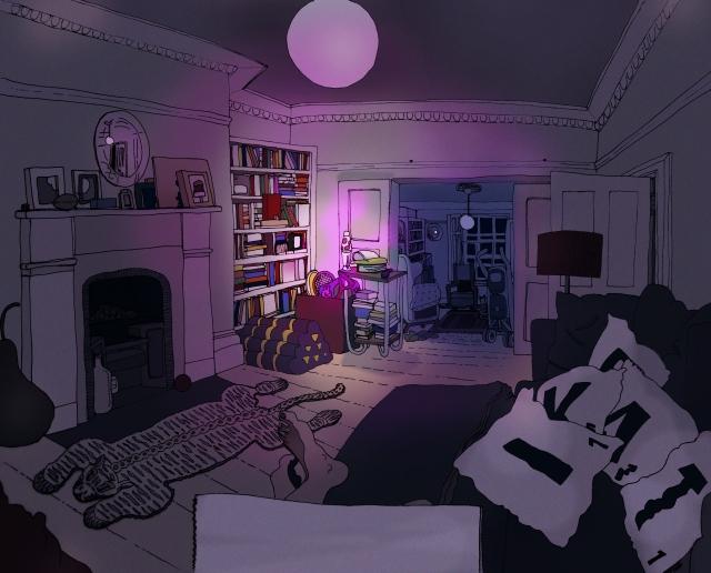 living room 5 Bubble lamp light