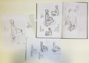 sitting sketches
