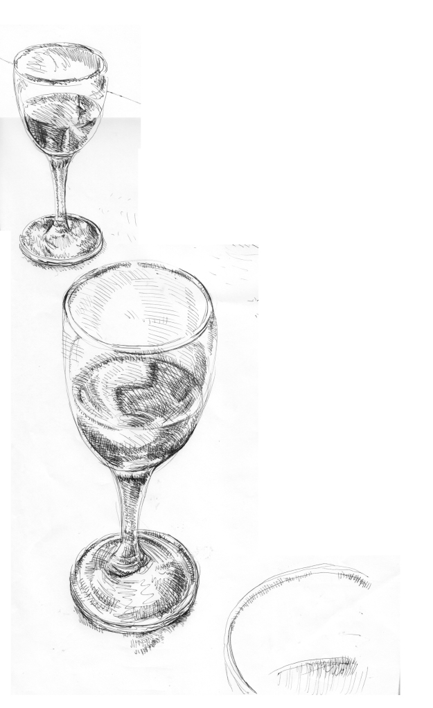 WINE GLass of water