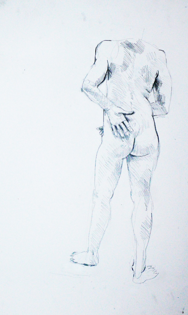 Lady pencil figure study