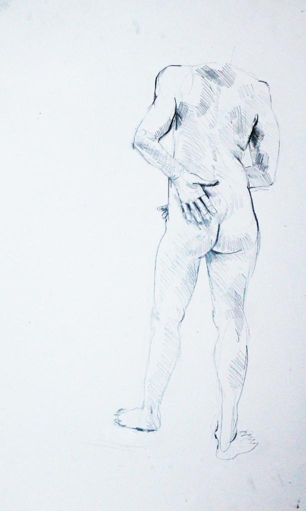Lady pencil figure study