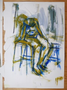 Seated blue lady otto mueller