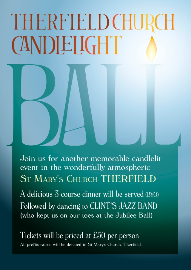 Therfield candlelight ball poster