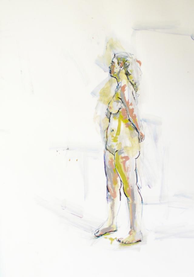 curvy lady standing