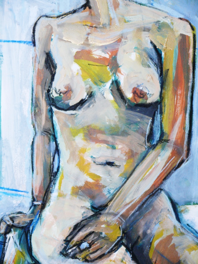 Female nude in studio torso