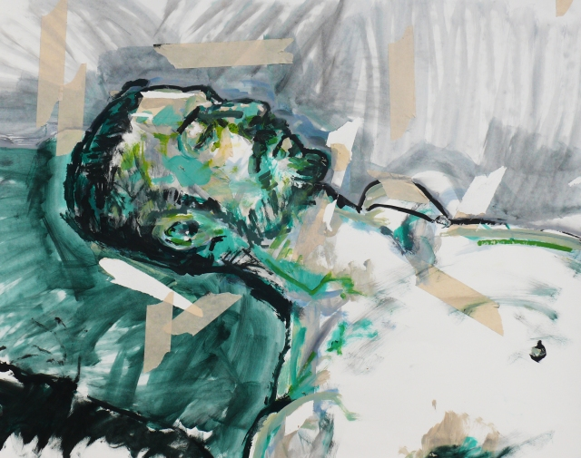head of a man reclined