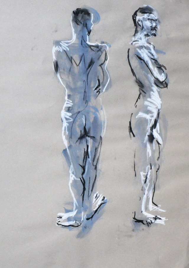 two men reflection