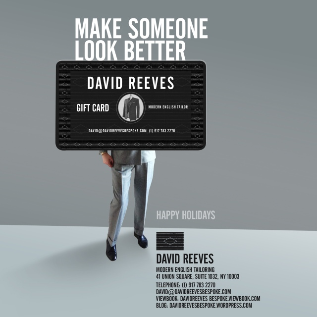 DAVID REEVES card hols ad