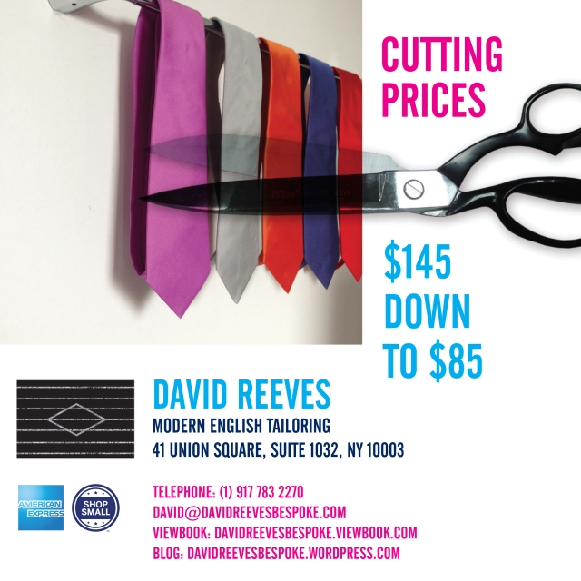 DAVID REEVES TIE SALE v2 Instagram
