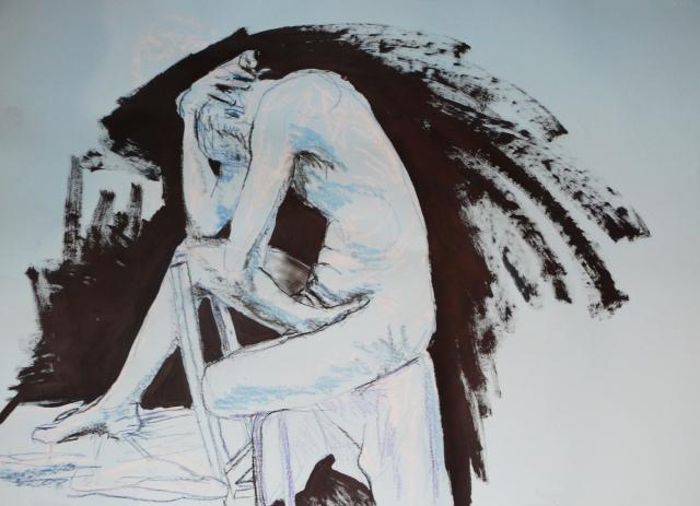 David seated