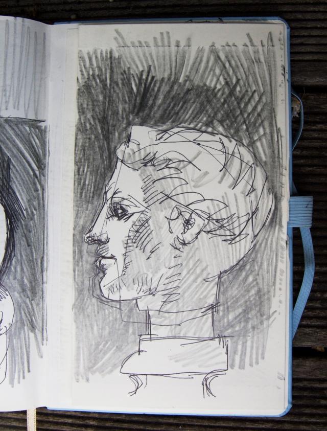 Britsh Museum sketch head of a goddes