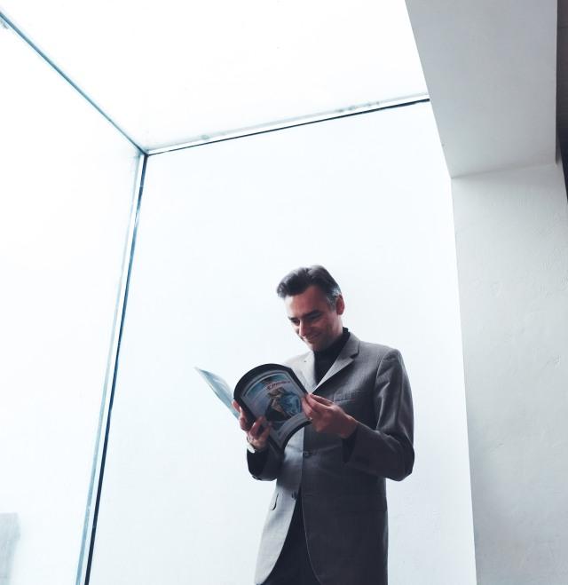 Trevor with Catalogue
