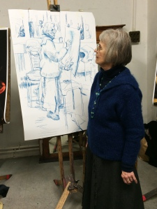 Anne and the drawing