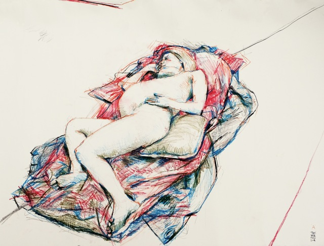 A on bed life drawing