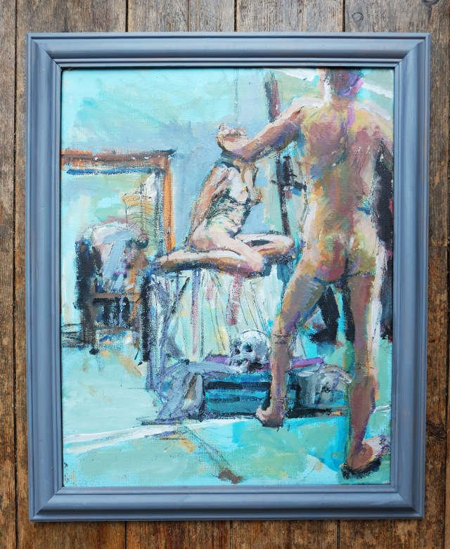 R&H painting on canvas framed