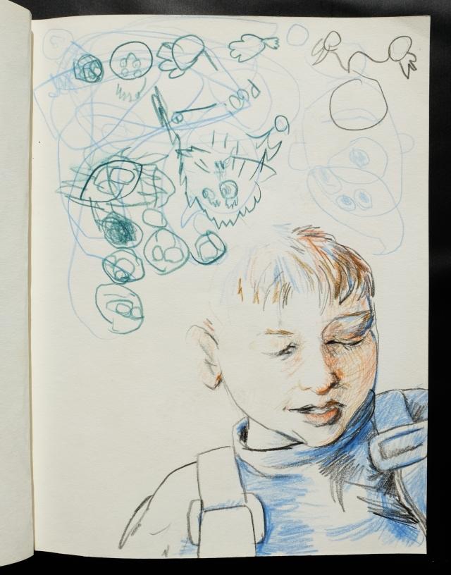 Eddy with Eddy doodles