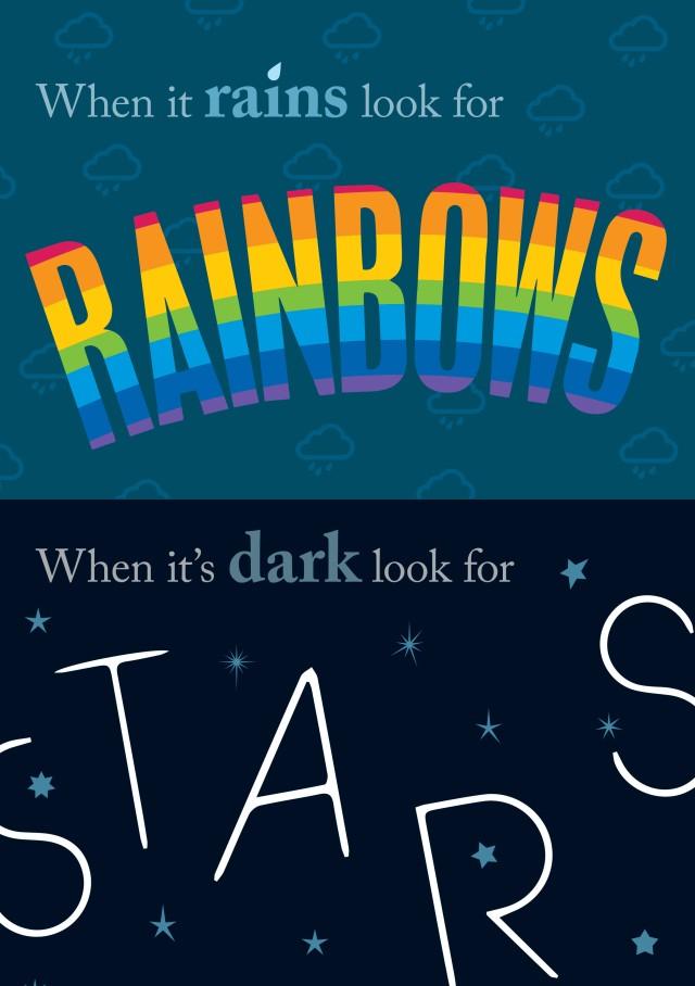 Rainbows and Star art