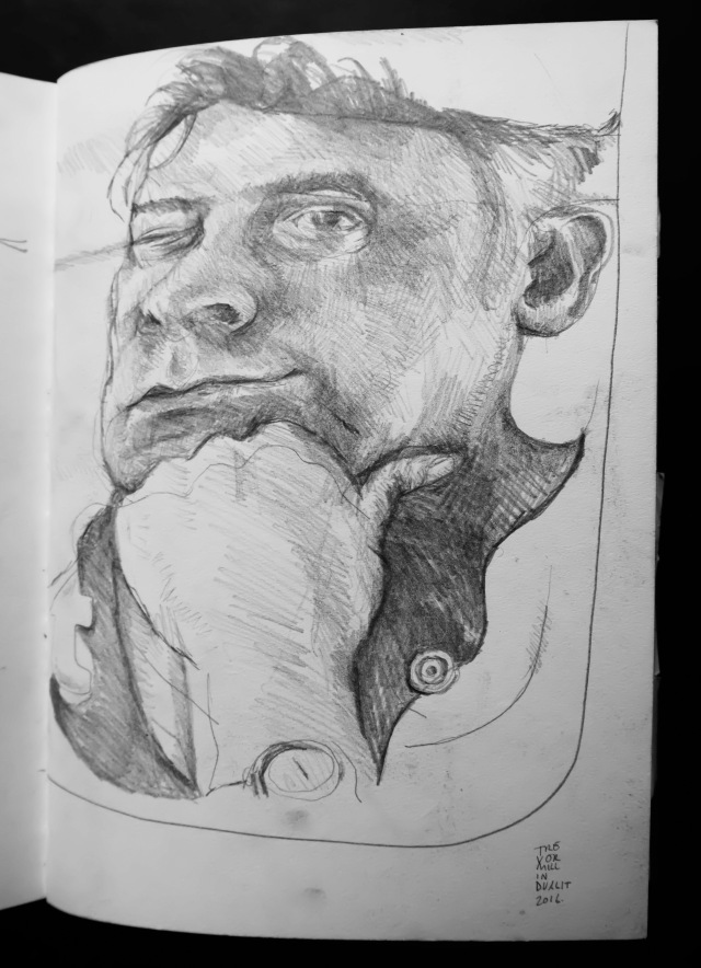 Self portrait in pencil by TM 2016