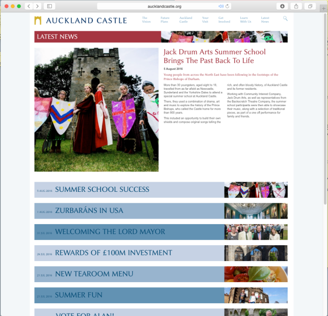 Auckland Castle news page