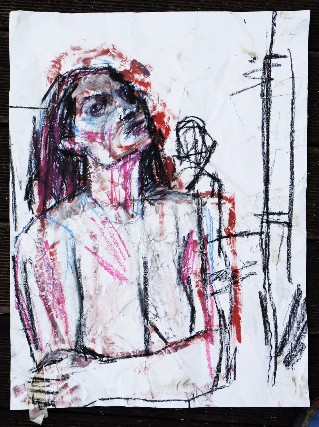 lady-on-clumped-paper