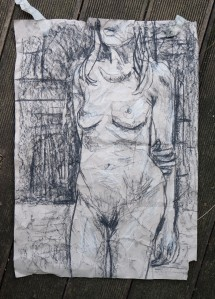 h-standing-in-charcoal-on-scrunched-paper