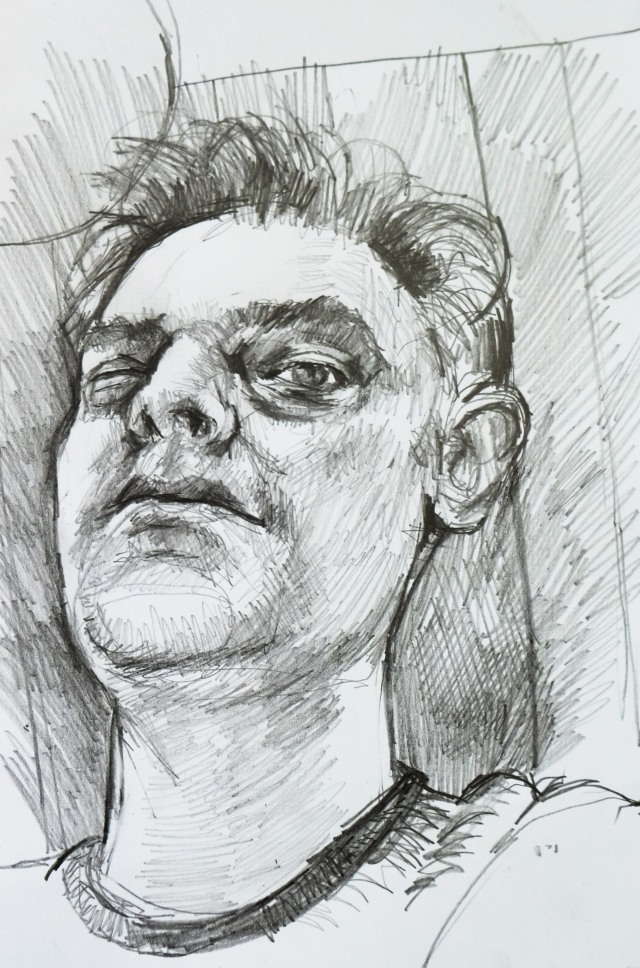 Self portrait in 20 minutes pencil
