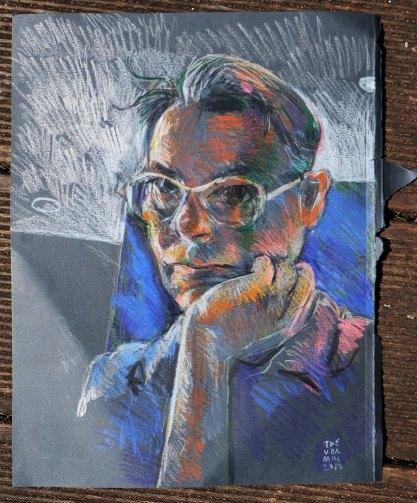 Quick pencil self portrait