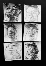 6 Ernest sketches on post it notes