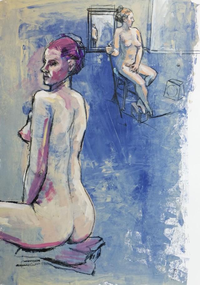 Tania x2 on blue