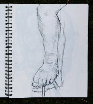 Actors left leg
