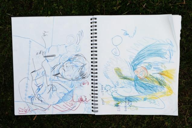 Eddy and Trevor sketch together