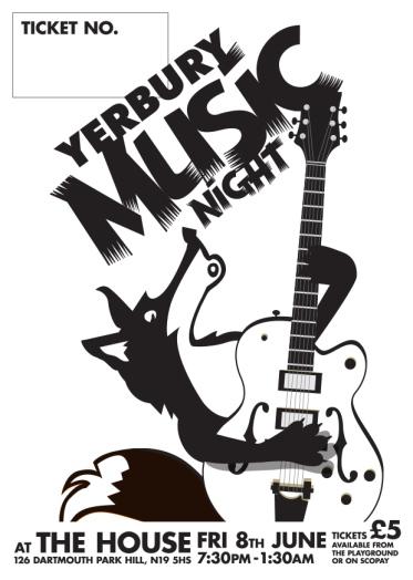 Music night tickets artwork