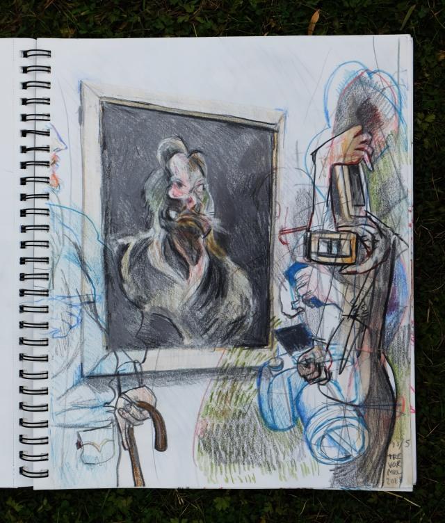 Watching the portrait of Elisabeth Rawthenson