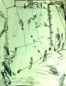 Climbing in Padley Gorge MONO 1st 230718