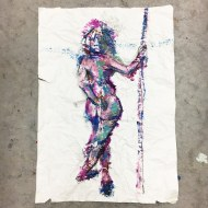 Crumpled painting