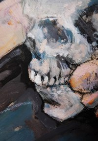 Skull and feet detail